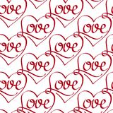 Vector Seamless Pattern with Love Lettering Royalty Free Stock Photo