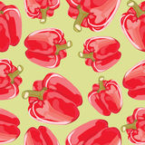 Vector seamless pattern of red peppers Stock Photo