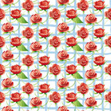 Vector seamless pattern with red roses. Stock Photography