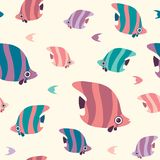 Seamless pattern with butterfly fish. Royalty Free Stock Photo