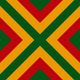 Vector seamless pattern of Reggae colors flag for cushion, blanket, pillow, plaid, t-shirt graphics, cloth, poster. royalty free illustration