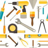 Vector seamless pattern with repairs tools Stock Image