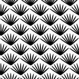 Seamless pattern, geometric ornamental texture. Vector seamless pattern, repeat monochrome geometric ornamental texture, oriental style, black & white figures stock illustration