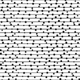 Vector seamless pattern. Repeating  dotted lines. Royalty Free Stock Image