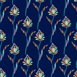 Vector seamless pattern. Repeating floral ornament. Modern texture background. Abstact Flowers print for textile and wallpaper des. Ign Vector Illustration