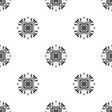 Vector seamless pattern. Repeating geometric. black and white  Stock Image