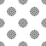 Vector seamless pattern. Repeating geometric. black and white  Stock Photo
