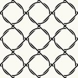 Vector seamless pattern. Repeating intertwining cordage, ropes. Stock Photography