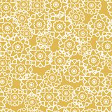 Vector Seamless pattern with retro flowers yellow texture stock illustration