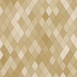 Vector seamless pattern with rhombs. Abstract beige texture. Geometrical background. Monochrome backdrop Stock Illustration