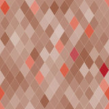 Vector seamless pattern with rhombs. Abstract beige texture. Geometrical background. Monochrome backdrop Royalty Free Illustration
