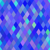 Vector seamless pattern with rhombs. Abstract bright blue and purple texture. Stock Images