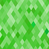 Vector seamless pattern with rhombs. Abstract bright green texture. Stock Photos