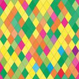 Vector seamless pattern with rhombs. Abstract bright texture. Geometrical background. Colorful backdrop Stock Illustration