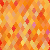Vector seamless pattern with rhombs. Abstract orange texture. Geometrical background. Warm colors Stock Illustration