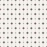 Vector seamless pattern with rhombus. And  dots Stock Images