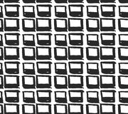 Vector seamless pattern with rhombuses. Abstract background made using of brush smears. Monochrome hand drawn texture. Trendy hips. Monochrome hand drawn texture Royalty Free Illustration