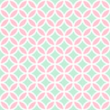 Vector seamless pattern with rings. Geometric vector background in white, pink and mint colors Stock Image