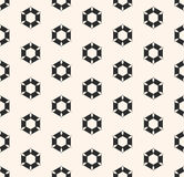 Vector seamless pattern with rippled hexagonal shapes, geometric Stock Photography