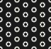 Vector seamless pattern with rippled hexagonal shapes, geometric Stock Image