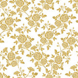 Vector seamless pattern - romantic roses. Royalty Free Stock Photos