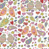 Vector seamless pattern in romantic style Stock Photo