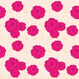 Vector seamless pattern with rose Stock Image