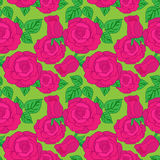 Vector seamless pattern with rose Royalty Free Stock Photography