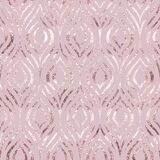Vector seamless pattern. Rose gold feather peacock. Roses golden foil. Pink background geometric line pastel color. Delicate marbl