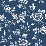 Vector seamless pattern with roses Royalty Free Stock Photo