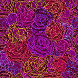 Vector seamless pattern with roses. Stock Photography
