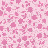 Vector seamless pattern with roses. Royalty Free Stock Photography