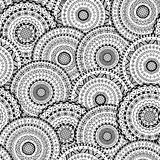 Vector seamless pattern of round abstract ethnic mandalas Royalty Free Stock Photos