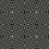 Vector seamless pattern with rounded wavy lines, zigzag shapes. Vector geometric seamless pattern with concentric wavy lines, smooth zigzag shapes. Abstract Stock Image
