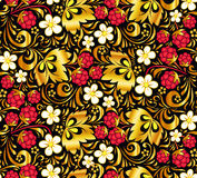Vector seamless pattern in Russian style Royalty Free Stock Photo