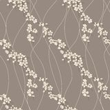 Vector seamless pattern with sakura branch Stock Photo