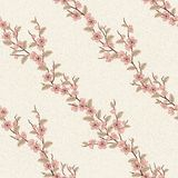 Vector seamless pattern with sakura branch Stock Image