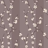 Vector seamless pattern with sakura branches Stock Photo