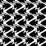 Vector seamless pattern with scalar fishes Stock Photography