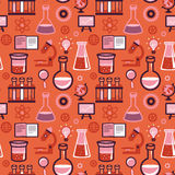Vector seamless pattern - science and education Stock Photo