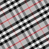 Vector seamless pattern Scottish tartan 1. Black, white, gray, red royalty free illustration