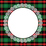 Vector seamless pattern Scottish tartan with frame Stock Images