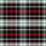 Vector seamless pattern Scottish tartan panda Royalty Free Stock Photos