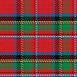 Vector seamless pattern Scottish tartan Royal Stewart Royalty Free Stock Photography