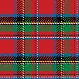 Vector seamless pattern Scottish tartan Royal Stewart Royalty Free Stock Photography