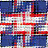 Vector seamless pattern Scottish tartan State of Florida. Black, white,blue, red Stock Images