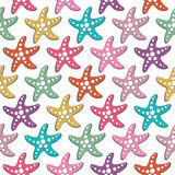 Vector seamless pattern with sea stars Royalty Free Stock Photos