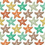 Vector seamless pattern with sea stars Royalty Free Stock Photography