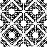 Vector seamless pattern. Seamless  background. Black and white texture. Arabic ornament Royalty Free Stock Images