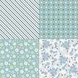 Vector seamless pattern set. Royalty Free Stock Photography